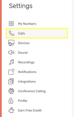 CircleLoop - Desktop - Settings - Calls