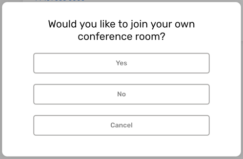 CircleLoop - Desktop - Settings - Conference Calling - Join Own Room