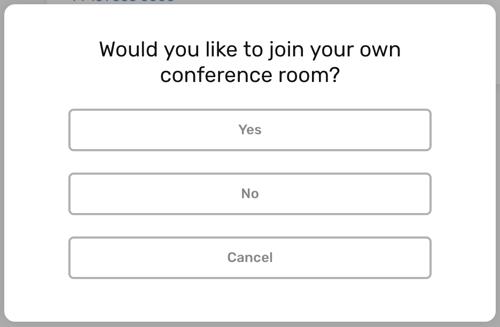 CircleLoop - Desktop - Settings - Conference Calling - Join Own Room