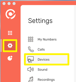 CircleLoop - Desktop - Settings Menu - Devices