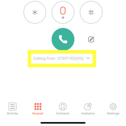 CircleLoop - Mobile - SMS - Calling From Drop Down - CLIP