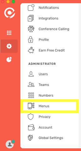 CircleLoop - Settings - Administrator - Menus