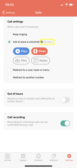 CircleLoop_iOS_Settings-Calls_Voicemail_On