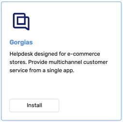 Gorgias - Integration - Install