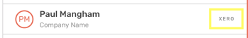 Xero Contact in CircleLoop